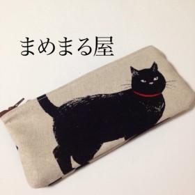黒猫ペンケースE