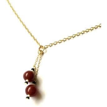 ORB -Red agate vintage- 【Necklace】