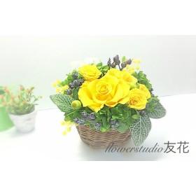 ローズの花かご