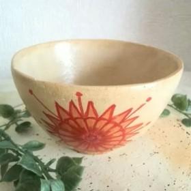 sale 秋の花の茶碗