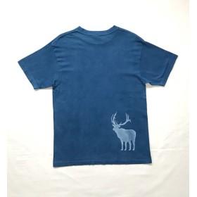 藍染-T 新月と鹿