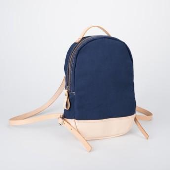 キャンペーン中! 帆布+本革手作りのクラシックリュックサック【小さい】