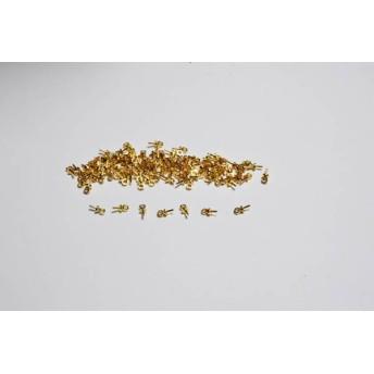 ★76F585-2 キャップ付き ヒートン 約100点 金属パーツ UVレジン
