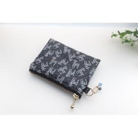 LIBERTY Dalmatian Dots ダルメシアンドッツ 5BL ビニコの中布・仕切りポケット付きminiポーチ ◆ コインケース・小物入れに♪
