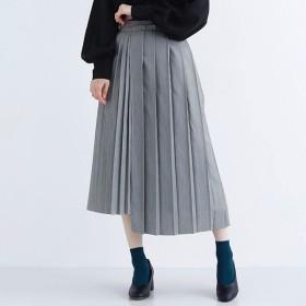 [マルイ]【セール】【plus】アシンメトリープリーツスカート/メルロープラス(merlotPLUS)