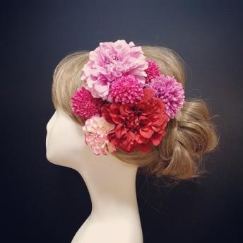1セット限定色ベリーベリー 飾れるフラワーBOXの髪飾り