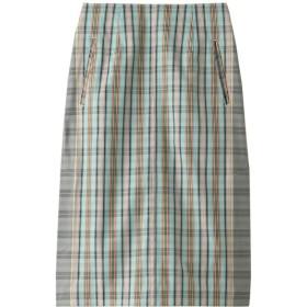 SALE 【50%OFF】 beautiful people ビューティフルピープル フィンクスコットンマドラスチェックサイドベンツスカート ミント