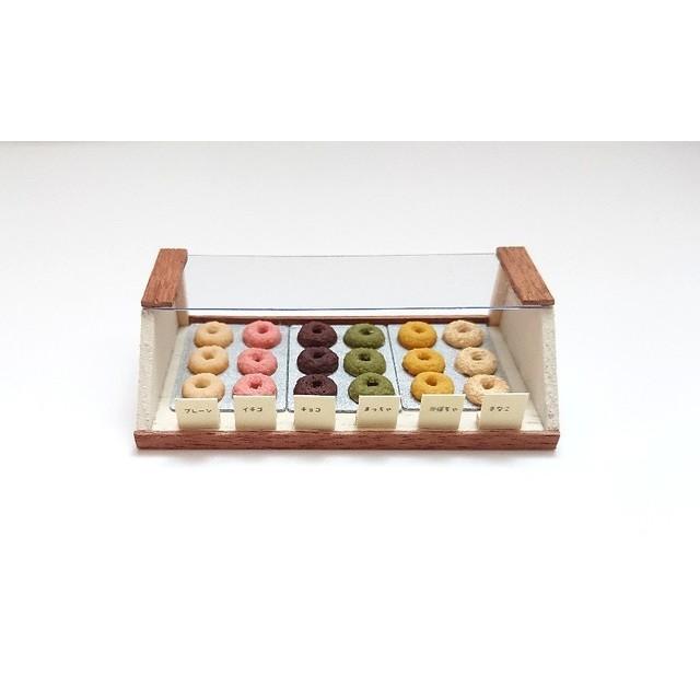 ミニチュア 焼きドーナツショーケースセット