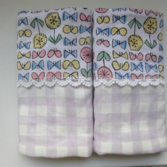 エルゴよだれパット*SunnyDay×チェック fabric by admi