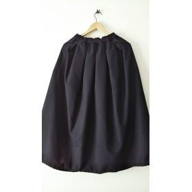 黒☆マキシ丈☆綿起毛☆スカート風サルエルパンツ
