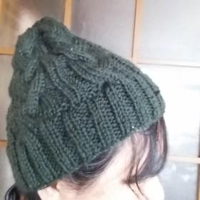 暖か~い 手編の帽子