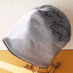 圧縮ウールニット生地のニット帽 feel at ease