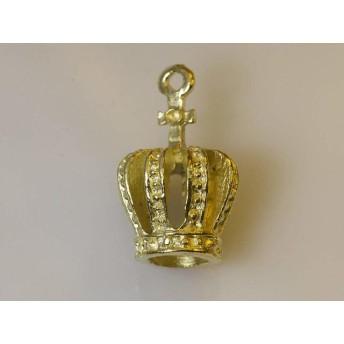 10個セット 王冠のチャーム サイズ 約21mm×13mm 金 ゴールド (I.4.2.10) HAPPYCRAFT/ハッピークラフト