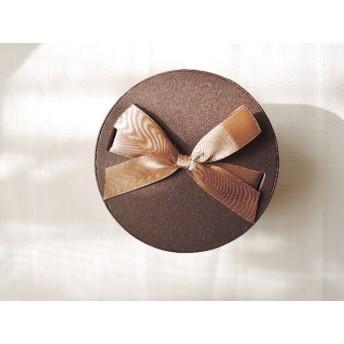 (995)数量限定です☆ラッピング用品 ギフトボックス シックなブラウンカラーのリボン付きボックスです