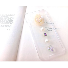 iPhone case 【vintage flowers purple】