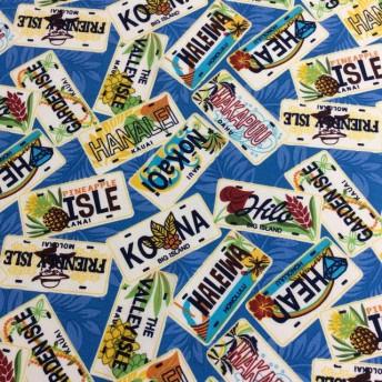 海外 ファブリック ハワイアン ナンバープレート 輸入生地 布 ハワイ