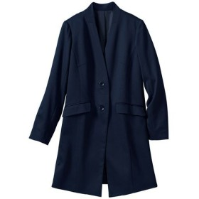 40%OFF【レディース大きいサイズ】 カットソーロングジャケット ■カラー:ネイビー ■サイズ:4L,6L,LL,5L