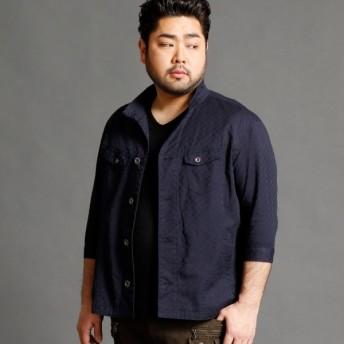 [マルイ]【セール】<大きいサイズ>市松柄7分袖ジャケット/ハイダウェイ(大きいサイズ)(HIDEAWAYS)