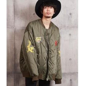 [マルイ] オーバーサイズ刺繍キルティングジャケット 刺繍モチーフジャケット/アンリラクシング(unrelaxing)