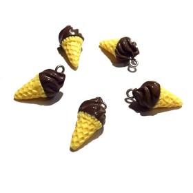 ソフトクリームパーツ チョコレート 5個