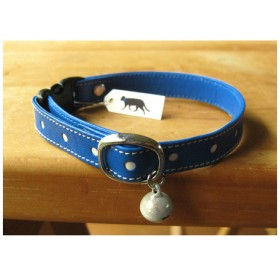 cat collar【Schelm】* blue dots