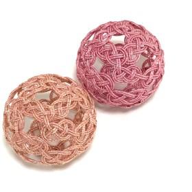 2個セット ピンク金*時 水引の髪飾り(Mサイズ)