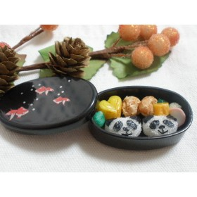 パンダさんのお弁当☆黒金魚☆ミニチュアフード