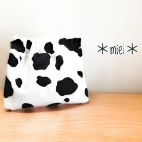 牛とわたし。ぱくぱくポーチ