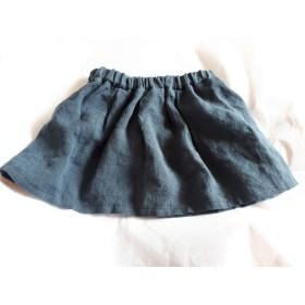 送料込み 再販 色が選べる リネンのスカート