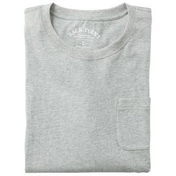 【レディース】 オーガニックコットン100%素材のクルーネックTシャツ(7分袖) ■カラー:ミディアムグレー ■サイズ:5L,LL,3L,S,M,L,7L