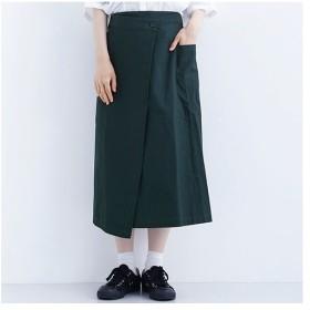 [マルイ]【セール】【4色展開】ミモレ丈コットンラップタイトスカート/メルロー(merlot)
