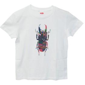 6.2oz Tシャツ white GM(Girls-M) クワガタ