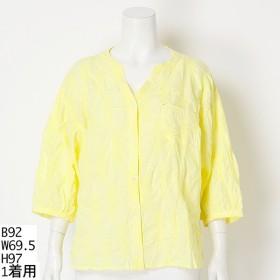 [マルイ]【セール】【LL-3L・4L-5L】ボリューム袖スタンドカラーシャツ/ソソ(大きいサイズ)(SOSO)