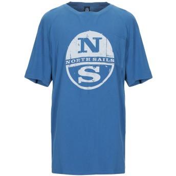 《9/20まで! 限定セール開催中》NORTH SAILS メンズ T シャツ アジュールブルー XS コットン 100%