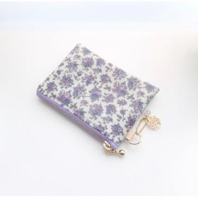 LIBERTY ビニコの中布・仕切りポケット付きminiポーチ ◆ コインケース・小物入れに♪