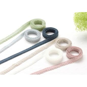 11色《木馬リボン》ストレッチフリルテープ 12㎜幅【1m】日本製 R008