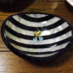 夜光貝の小物入れ 皿 小皿