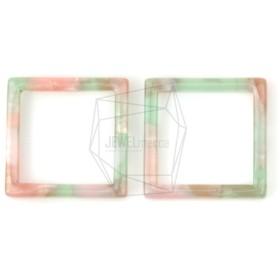 BSC-375-G【2個入り】セルロイドスクエアチャーム,celluloid Square pendant