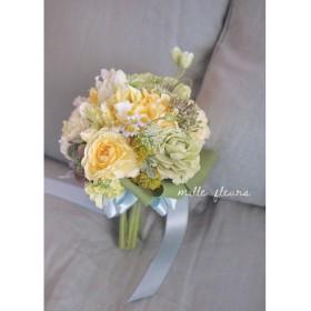 Rustic wedding bouquet,チューリップとビオラ…ナチュラルクラッチブーケセット