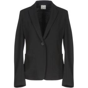 《期間限定セール開催中!》DOUUOD レディース テーラードジャケット ブラック 40 レーヨン 68% / ナイロン 27% / ポリウレタン 5%
