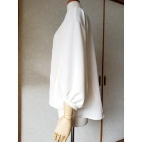 着物リメイク 八分丈7ギャザー袖ブラウス
