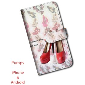 iPhone専用ケース/PUMPS/T/RED