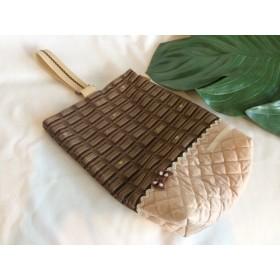 入園入学リバーシブル★シューズケース上履き袋14ミルクチョコレート