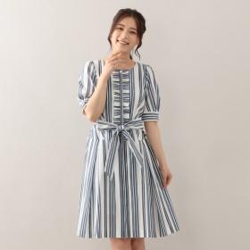 [マルイ]【セール】シャンタンストライプドレス/トゥービーシック(TO BE CHIC)