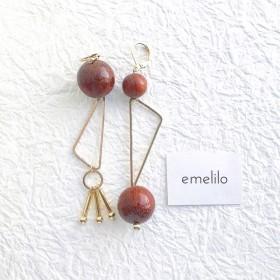 wood × gold pierce