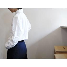 エルボーパッチ オックスフォード ボタンダウンシャツ (ホワイトキルティング) S(GIRLS:M~L)サイズ