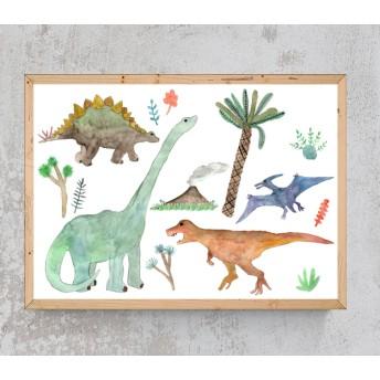 恐竜たちの時代インテリアポスター