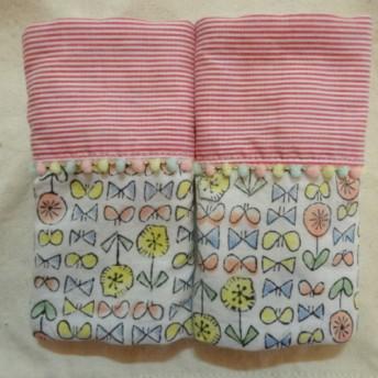 《再販》エルゴよだれパット*花ちょう×ボーダー fabric by admi
