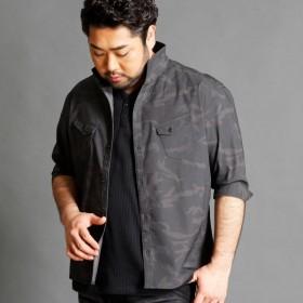 [マルイ]【セール】7分袖イタリアンカラーシャツ/ハイダウェイ(大きいサイズ)(HIDEAWAYS)