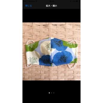 (夏向け)布マスク/和柄ブルー